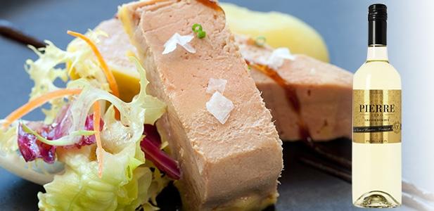 Accord foie gras et Pierre Zéro Grande Réserve Blanc