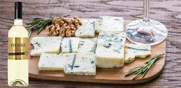Accord formages persillés et Pierre Zéro Grande Réserve Blanc