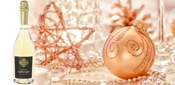 Gold Arabesque : le mousseux aux paillettes d'or 24 carats