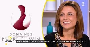 Mathilde Boulachin, co-fondatrice des Domaines Pierre Chavin, sur le plateau de La Quotidienne France 5