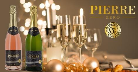 Pierre Zéro, le vin pétillant sans alcool pour les fêtes de fin d'année